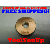 7/16 28 SS THREAD RING GAGE .4375 GO ONLY P.D. = .4149 INSPECTION MACHINE SHOP