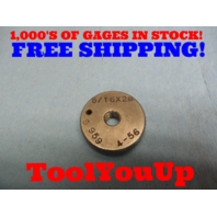5/16 28 THREAD RING GAGE .3125 GO ONLY INSPECTION MACHINE SHOP