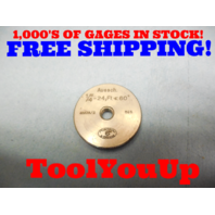 1/4 24 TPI THREAD RING GAGE .25 GO ONLY P.D. = .1587 INSPECTION MACHINE SHOP