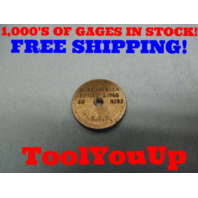 11/64 40 SS THREAD RING GAGE .171875 GO ONLY P.D. = .1555 TOOL MACHINE SHOP