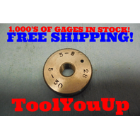 3/8 28 THREAD RING GAGE .375 GO ONLY  TOOLING MACHINE SHOP TOOL INSPECTION