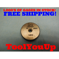 1/4 18 THREAD RING GAGE .25 GO ONLY P.D. = .2265 TOOLING MACHINE SHOP TOOLS