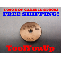 1/4 24 SS THREAD RING GAGE .25 GO ONLY P.D. = .2187 TOOLING INSPECTION TOOLS
