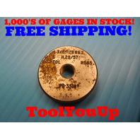 3/8 28 NS 2 THREAD RING GAGE .375 GO ONLY P.D. = .3518 TOOLING INSPECTION TOOLS
