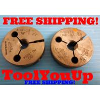 9/16 18 NF 3A THREAD RING GAGES .56250 GO NO GO  P.D.'S = .5264 & .5230 USA MADE