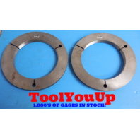 8 3/8 UNJS 3A THREAD RING GAGES  8.375 GO NO GO P.D.'S = 8.3344 & 8.3297 TOOLING