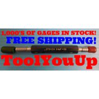 3/8 24 UNJF 3B THREAD PLUG GAGE .375 GO NO GO P.D.'S = .3479 & .3516 TOOLING