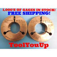 1 11/16 18 2A THREAD RING GAGES 1.6875 GO NO GO  P.D.'S= 1.6499 & 1.6448 USA