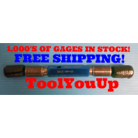 "1"" 12 UNF  2A  SET THREAD PLUG GAGE 1.0 GO NO GO P.D. .9441 & .9382 QUALITY TOOL"