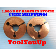3/4 16 UNF 2A SPECIAL THREAD RING GAGES .75 GO NO GO P.D. = .7069 & .7019 TOOL
