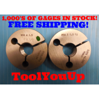 M18 X 1.5 6g METRIC THREAD RING GAGES 18.0 1.50 GO NO GO P.D. = .6702 & 16.854
