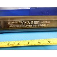 "NEW ULTRA-DEX USA S32V MCLNR4 2"" DIAMETER BORING BAR HOLDS CNMG 431 432 INSERTS"