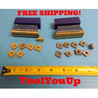 7 PCS CNMG 432 MP62 TIN COATED CARBIDE INSERTS & 9 PCS SIMILAR DESIGN TELEDYNE