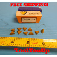 10 PIECES NEW TRIUMPH TPG 221 KT150 CARBIDE INSERTS TIN COATED MILLING TURNING