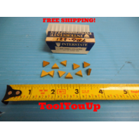 11 PCS NEW INTERSTATE PERFORMANCE TPG 221 ICP55 CARBIDE INSERTS TIN COATED MILL