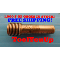 M11 X 1 6H METRIC THREAD PLUG GAGE 11.0 1.0 NO GO ONLY 10.500 TAPERLOCK DESIGN