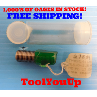 M14 X 1.50 6H METRIC THREAD PLUG GAGE 14.0 1.5 GO ONLY 13.026 REVERSIBLE STYLE