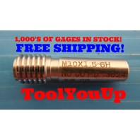 M10 X 1.5 6H METRIC THREAD PLUG GAGE 10.0 1.50 NO GO ONLY .3624 TAPERLOCK DESIGN