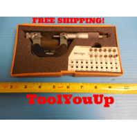 "MITUTOYO 126 - 901 0 - 1"" SCREW THREAD MICROMETER WITH ANVILS SOUTHBEND LATHE"