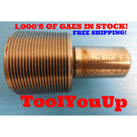 1 1/2 18 UNEF THREAD PLUG GAGE 1.5 GO ONLY P.D. = 1.4639 TAPERLOCK DESIGN TOOL