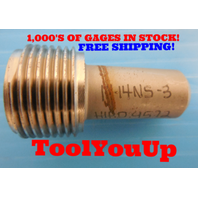"1"" 14 NS 3 THREAD PLUG GAGE 1.0 NO GO ONLY P.D. = .9572 TAPERLOCK DESIGN TOOLING"