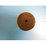 1 7/16 18 NS THREAD PLUG GAGE 1.4375 P.D. = 1.4014 TAPERLOCK DESIGN TOOLMAKER