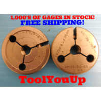 M10 X 1.5 6g THREAD RING GAGES 10.0 1.50 GO NO GO P.D.'S = 8.9940 & 8.8620 TOOL