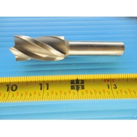 MELIN TOOL INC. 13/16 DIAMETER X 1/2 SHANK DIAMETER HSS 4 FLUTE SINGLE END MILL