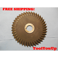 """NEW? 6"""" X 3/16 WIDE STRAIGHT SIDE TOOTH SAW BLADE 1"""" I.D. 1/4"""" KEY USA MACHINIST"""