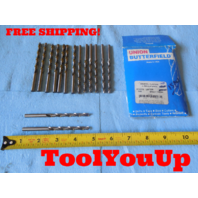 15 PCS NEW 7/32 DIA JOBBERS LENGTH SPIRAL DRILL BIT BRIGHT FINISH USA MADE