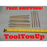 "13 PCS 9/64 DRILL BIT 5 5/16 LONG 3 1/2"" LENGTH OF CUT MACHINE SHOP TOOLING"
