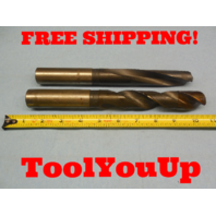 63/64 & 1 3/64 DIA COOLANT THRU DRILL BITS HSS SHARP MACHINE SHOP TOOLING TOOL