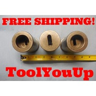 "2"" DIA CNC LATHE BUSHINGS WITH MORSE TAPER#1 #2 #2 INSIDE MACHINE SHOP MACHINIST"