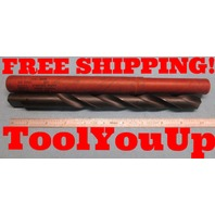 "NEW USA MADE 3/4"" DIA HSS DRILL BIT STRAIGHT SHANK TAPER LENGTH TOOLMAKER SHOP"