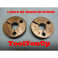 3/4 32 NS GO NO GO THREAD RING GAGE P.D.= .7257 AND .7230 MACHINE SHOP TOOLING