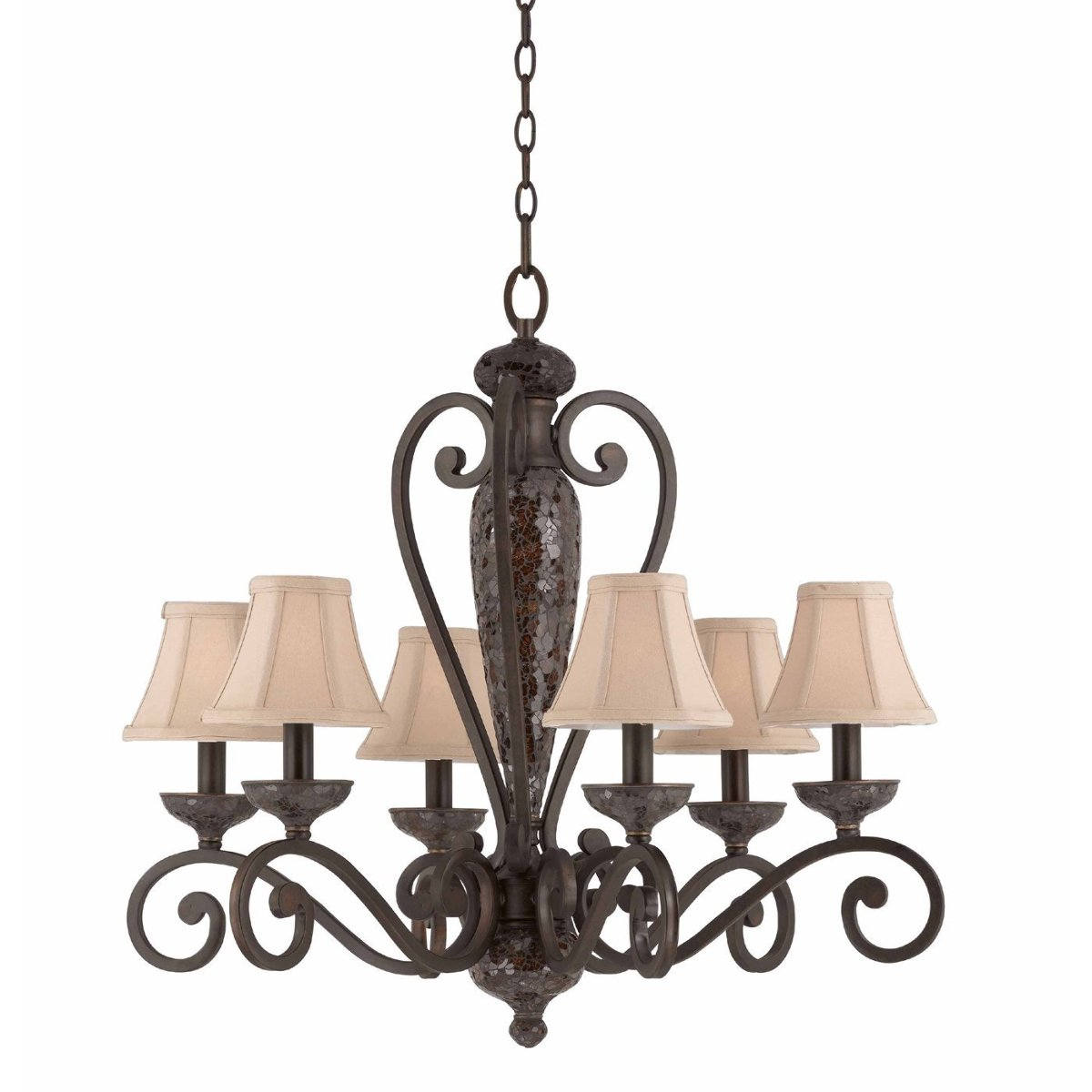 Triarch 31443 6 light jewelry chandelier harvest bronze missing triarch 31443 6 light jewelry chandelier harvest bronze missing part aloadofball Image collections