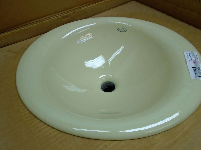 KOHLER K-2804-FD Iron Bell Self-Rimming Bathroom Sink, Cane Sugar ...