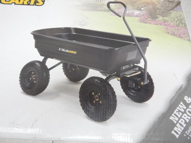 Gorilla Carts Gor4ps Poly Garden Dump Cart W Steel Frame