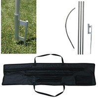 Tent Share SFPGSCC Commerical Swooper Flag Pole, Ground Spike & Carrying Case