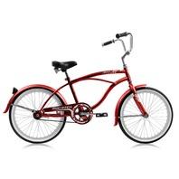 "Micargi JETTA-M-RED Male 20"" Beach Cruiser Bicycle Bike, Red"