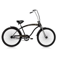 "Micargi ROVER-GT-MBK Men's 26"" Chopper Cruiser Bicycle Bike, Matte Black"
