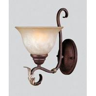 World Imports WI-2622-24  Olympus 1 Light Sconce Wall Fixture, Bronze