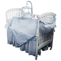 Hoohobbers 280-40 4-Piece Crib Baby Bedding, Blue Sherbert