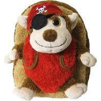 Kreative Kids 48217 Pirate Monkey Plush Backpack w/ Removable Stuffed Animal