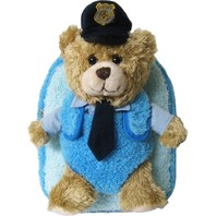 Kreative Kids 48218 Police Chief Plush Backpack w/ Removable Stuffed Animal