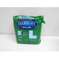 Medline FitRight Plus Adult Briefs with Tabs, Moderate Absorbency, Large, 40 ct