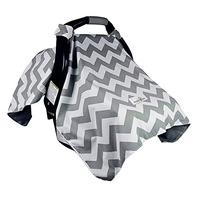 Bonafide Baby CSCGC-1 Car Seat Cover, Chevron Grey MISSING STROLLER HOOK