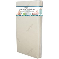 Moonlight Slumber SLSMPCRO Simplicity Organic w/ Ribbon Crib Mattress Ecru/White