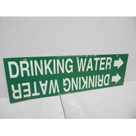 """Brady 4056-H Strap-On Pipe Marker, B-915 White On Green Plastic """"Drinking Water"""""""