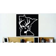 "Design with Vinyl Cont 123 2 Minnesota State Deer Buck Hunter Decal 18x18"""